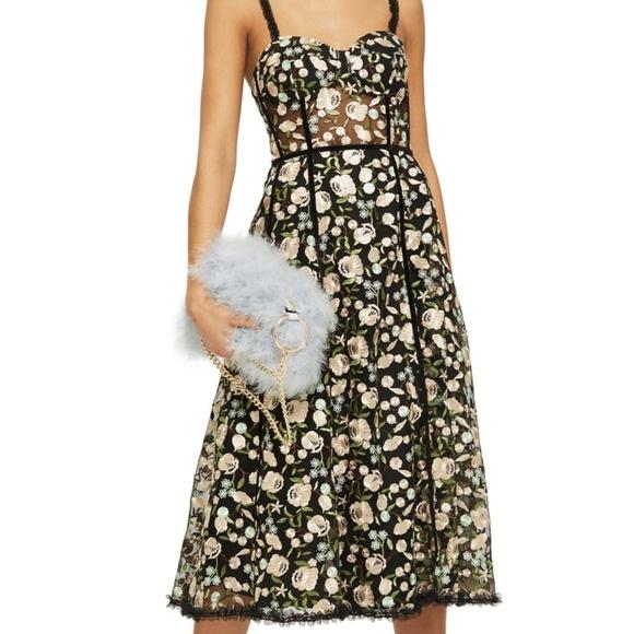 13a5cd9e2897 Topshop Floral Corset Midi Dress. M_5b41245fc2e9febe7e474fe9